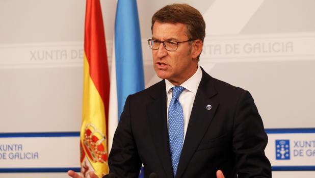 Alberto Núñez Feijóo tras la reunión del Consello de la Xunta