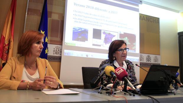 La delegada territorial de AEMET en Castilla-La Mancha a cargo de la presentación del informe