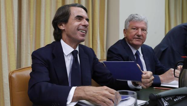 El expresidente del Gobierno José María Aznar, esta semana en el Congreso de los Diputados