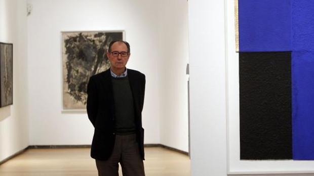 Rafael Canogar, en una exposición en Valencia