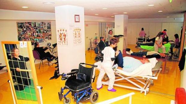 Sala de fisioterapia de la Asociación de Esclerosis Múltiple de Toledo