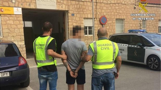 Imagen del momento de la detención
