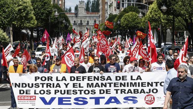 Multitudinaria manifestación celebrada el pasado 6 de septiembre en León a favor de Vestas
