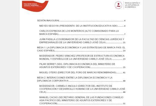 Parte del programa de las conferencias que organizó el doctor Sánchez
