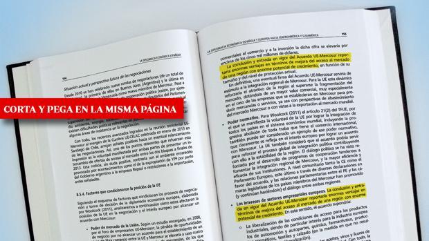 Sánchez plagió dos veces en la misma página de su libro una respuesta parlamentaria del Gobierno