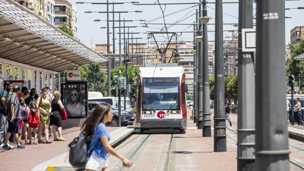 Imagen de una de las líneas del Metro de Valencia