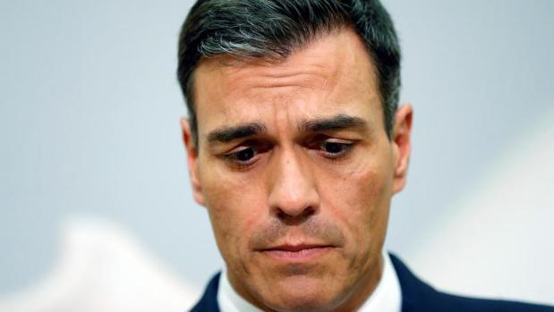 El presidente del Gobierno español, Pedro Sánchez, este jueves durante la rueda de prensa en la cumbre informal europea de Salzburgo sobre crisis migratoria