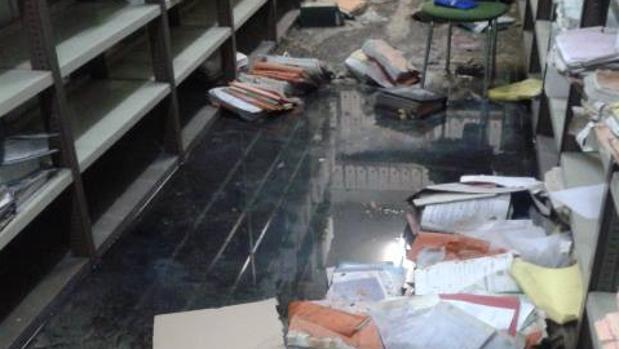 Inundación en un juzgado madrileño, denunciada por Cs