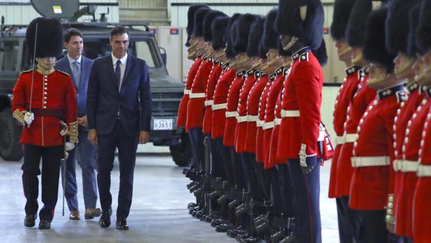 Pedro Sánchez, en su llegada a Canadá