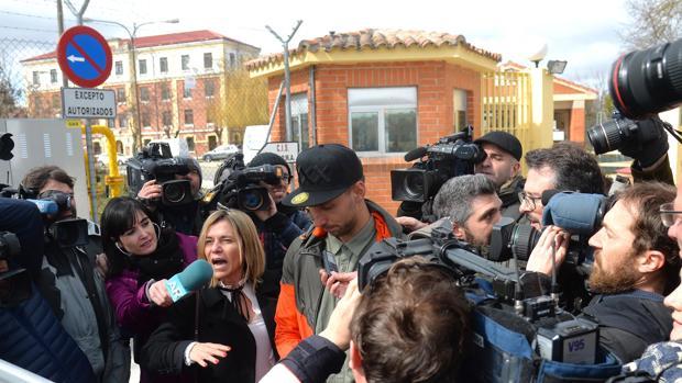 Salida de Victor Rodríguez, 'Viti', unos de los jugadores de la Arandina imputado por agresión sexual de la carcel de Burgos