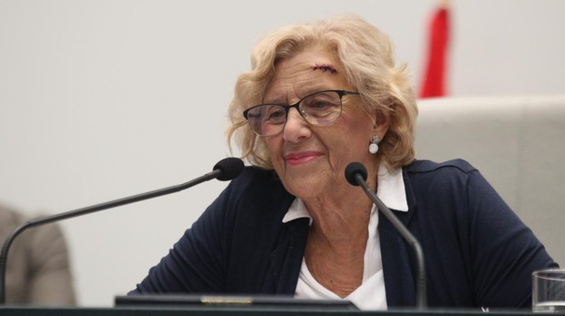 Manuela Carmena durante el Debate del estado de la Ciudad