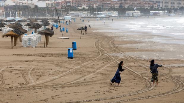 Imagen tomada este martes en la playa de Las Arenas de Valencia