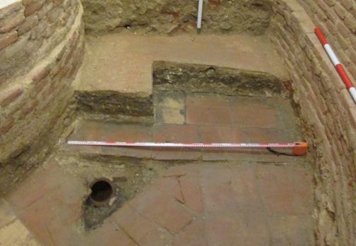 Detalle del suelo de la sala de audiencias del Consejo