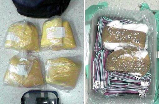 Algunos de los explosivos hallados en el escondite de Igarriz