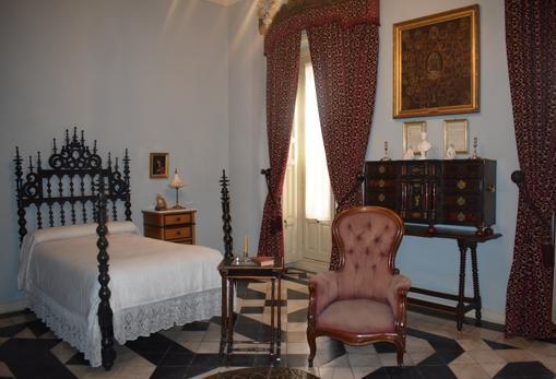 La habitación del marqués de Cerralbo en donde falleció (en la butaca) por un ataque cerebral
