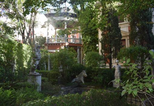 El jardín de la casa - museo Cerralbo