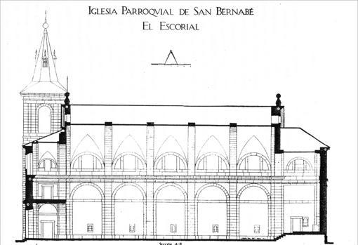 Plano de la iglesia parroquial de San Bernabé