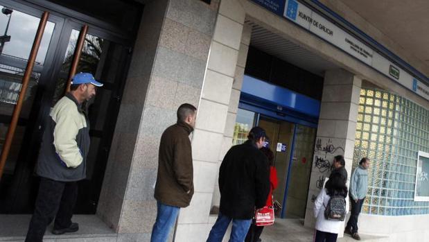 Una oficina de empleo en Santiago de Compostela