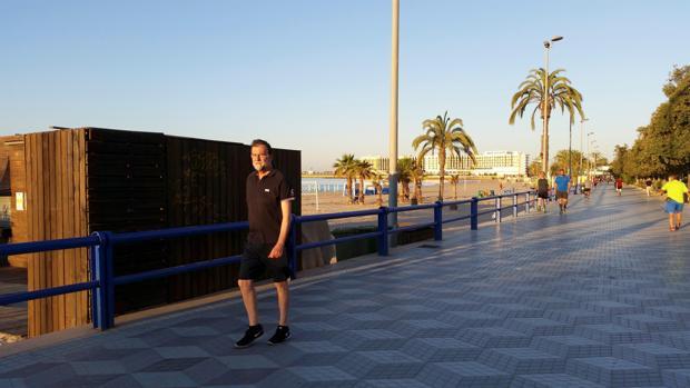 Imagen de Mariano Rajoy tomada el día que se incorporó a su plaza de registrador en Santa Pola