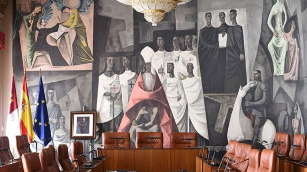Decoración del salón de plenos de la Diputación de Ciudad Real