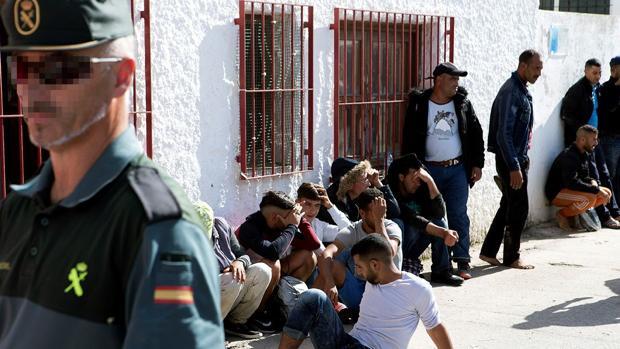 Grupo de inmigrantes llegado ayer a las costas andaluzas