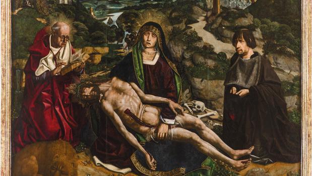 «Piedat Desplà», de Bartolomé Bermejo, en la Catedral de Barceloan
