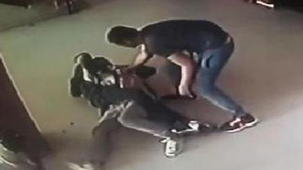 Imagen del asalto captada por las cámaras de seguridad