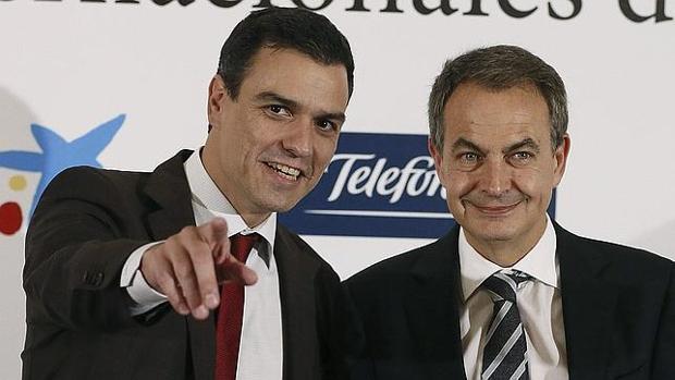 Pedro Sánchez y Zapatero en una imagen de archivo