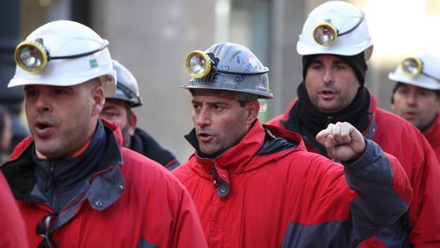 Imagen de archivo de una manifestación de mineros aragoneses del carbón