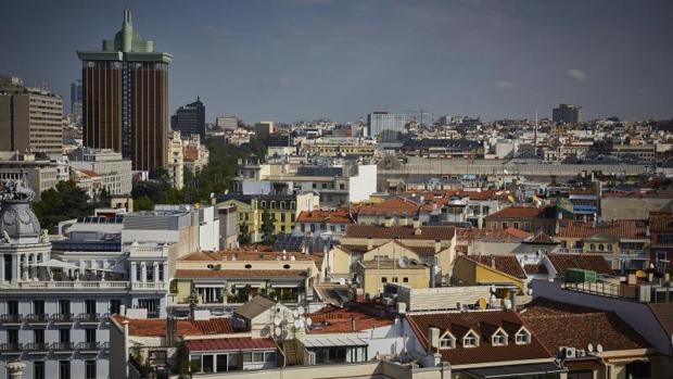 Vista aérea del distrito de Salamanca, el más caro de España