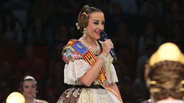 Rocío Gil, durante su discurso en el acto de elección de la corte de honor 2019