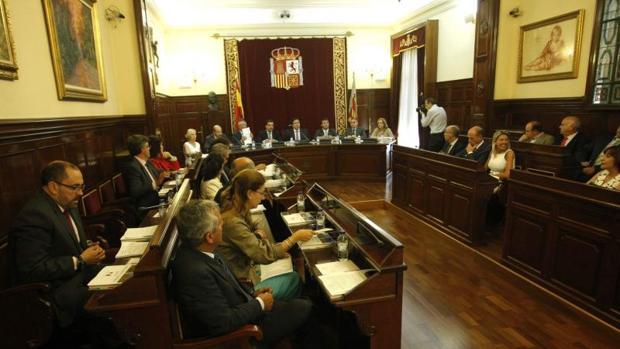 Imagen de archivo de una sesión plenaria de la Diputación de Castellón