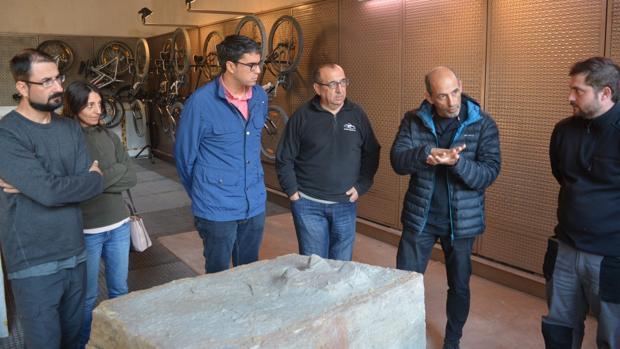 Imagen de la presentación del hallazgo difundida por el Ayuntamiento de Morella