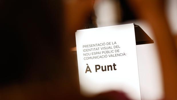 Imagen de archivo de la presentación de la identidad visual de À Punt