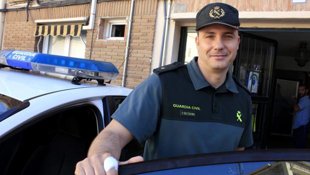 El alfárez Astilleros, el martes en la Comandancia de la Guardia Civil de Toledo