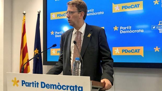 El diputado del PDECat Ferran Bel, este jueves en Barcelona