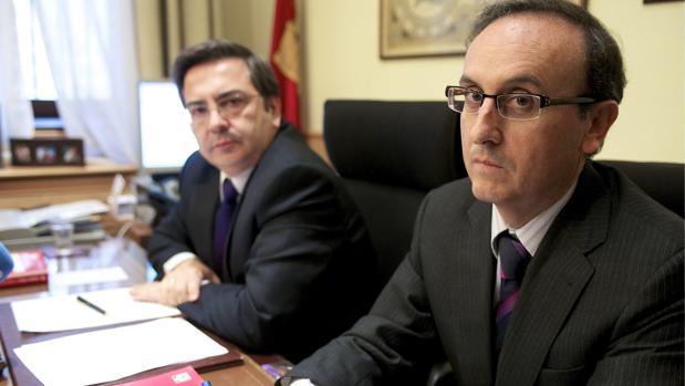 Antonio Huélamo, en primer término, junto con José Javier Polo, en 2010