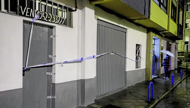 Garaje de Santander en el que falleció la víctima