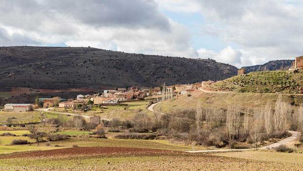 Vista panorámica de la localidad guadalajareña de Riba de Saelices