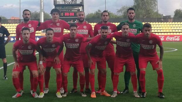 Once inicial de la UB Conquense en su partido contra el Villarreal B