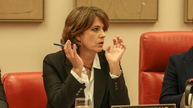 La ministra de Justicia, Dolores Delgado, en su comparecencia en el Congreso