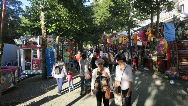 Imagen del recinto ferial de las fiestas de San Froilán