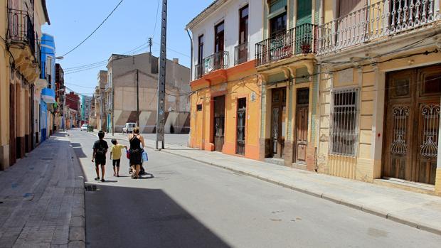 Barrio del Cabanyal de Valencia, zona próxima a donde se ha hallado el cadáver esqueletizado