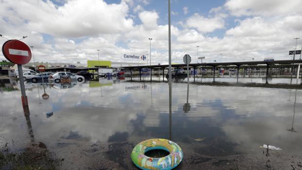 Imagen de archivo de los efectos de una lluvias torrenciales en Valencia