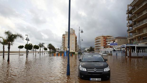 Imagen de los efectos de la «gota fría» de 2008 en la provincia de Castellón