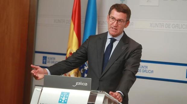 Núñez Feijóo, en la comparecencia tras la reunión semanal de su gobierno