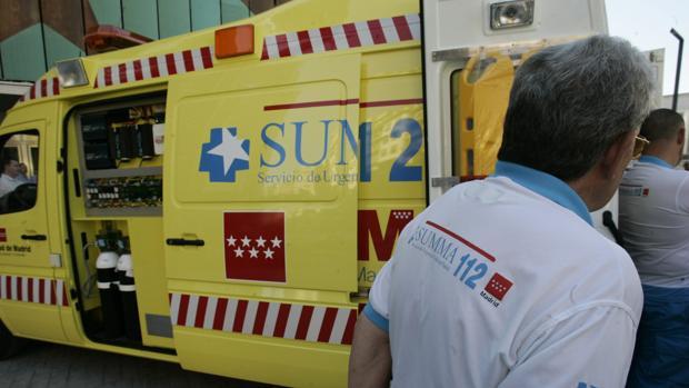 Ambulancia del servicio Summa 112