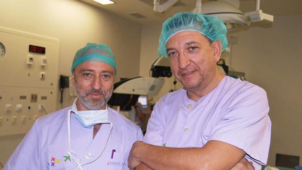Imagen de los doctores Mallent y Colio