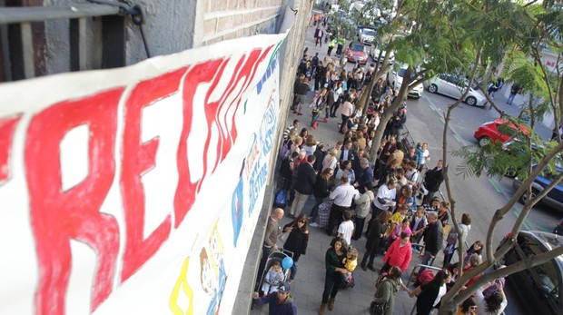 Protesta de padres por Madrid Central