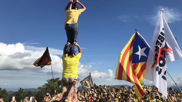Imagen del acto difundida por la consellera de Cultura de la Generalitat de Cataluña, Laura Borrás